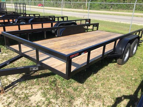 2017 Port City Trailers 7x16 Tube Top with SIR in Saucier, Mississippi
