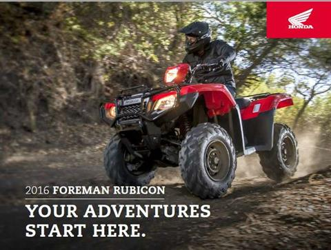 2015 Honda FourTrax® Foreman® Rubicon® 4x4 in Scottsdale, Arizona