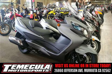 2016 Suzuki Burgman 400 ABS in Murrieta, California