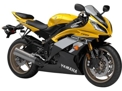 2016 Yamaha YZF-R6 60th Anniversary Yellow / Black in Baldwin, Michigan