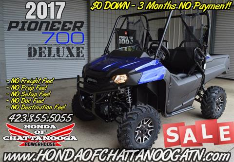2017 Honda Pioneer 700 Deluxe in Chattanooga, Tennessee