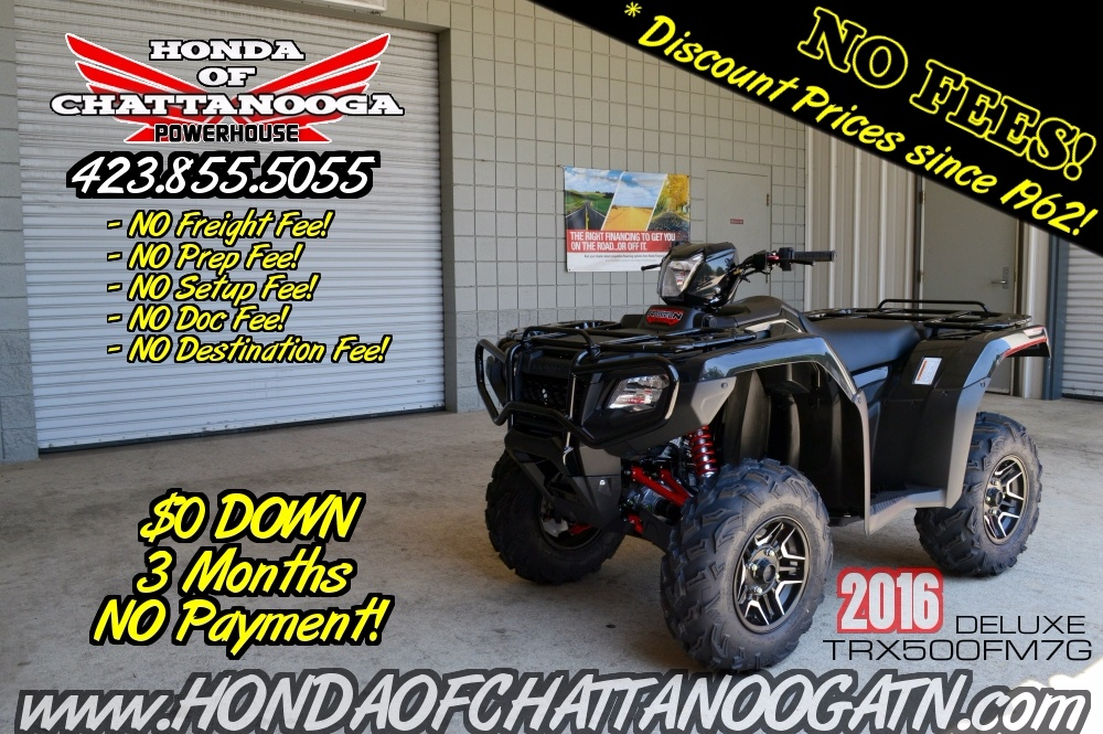 2016 Honda Foreman Rubicon Deluxe EPS For Sale Chattanooga TN GA AL TRX500FM7G