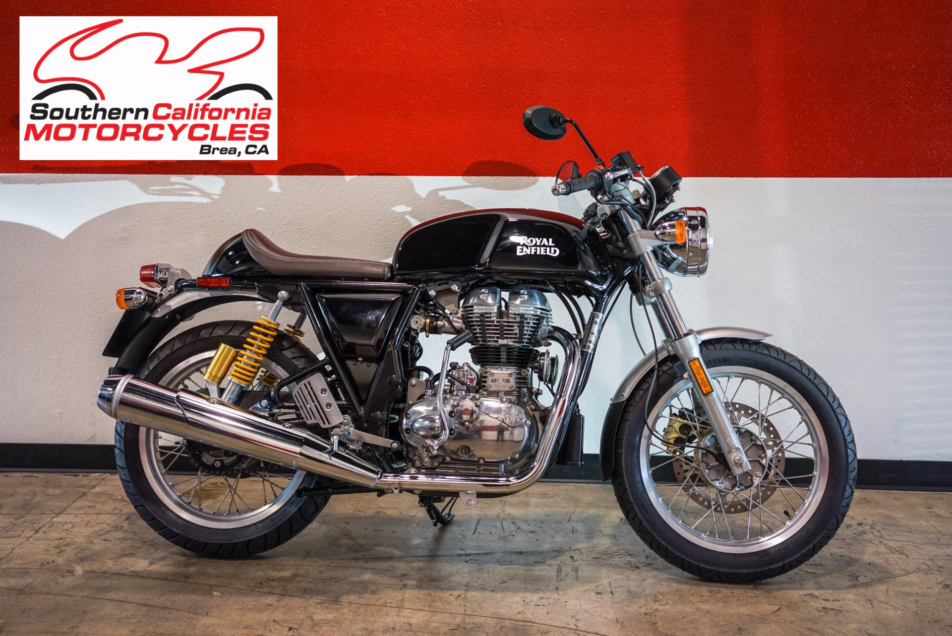 The Royal Enfield Continental GT is the lightest fastest most powerful Royal Enfield in producti
