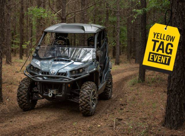 Can-Am Yellow Tag Event Rebate List Commander