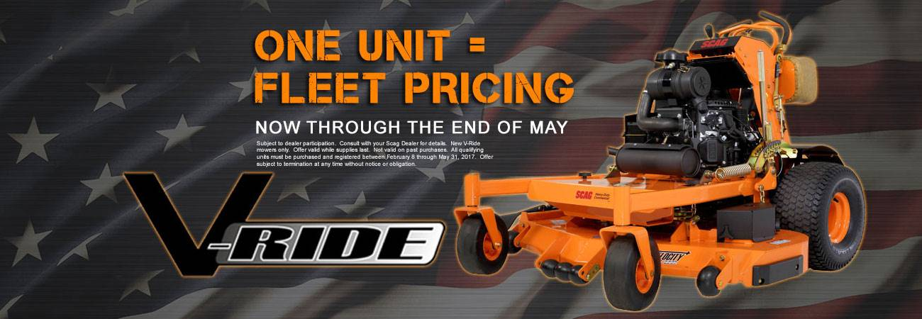 Scag Power Equipment - Fleet Pricing on Select Mowers