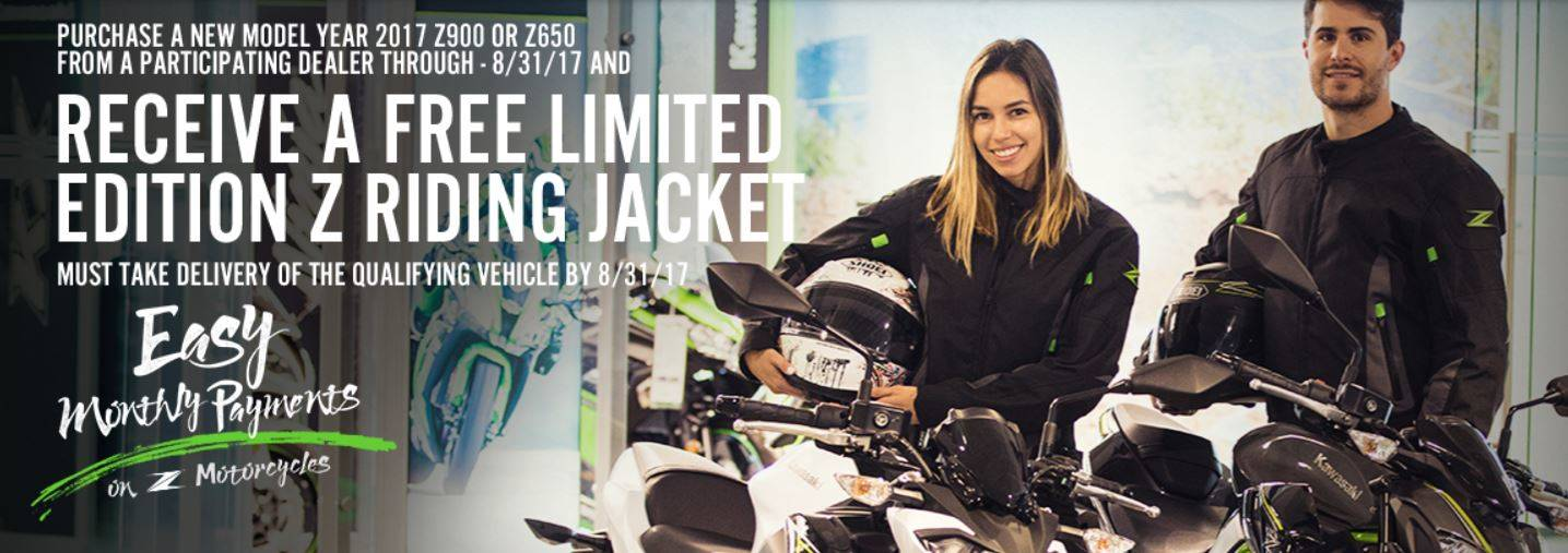 Kawasaki Z900 & Z650 OFFER - FREE LIMITED EDITION Z RIDING JACKET