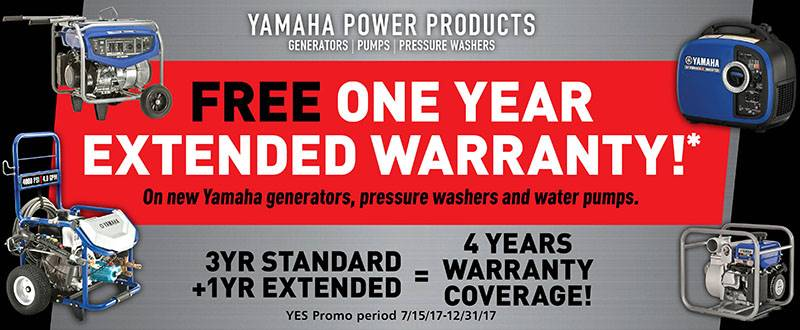 Yamaha Motor Corp., USA Yamaha - Current Offers - Power Products
