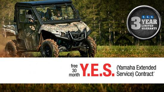 Yamaha Motor Corp., USA Yamaha - Current Offers - Utility Side-by-Side