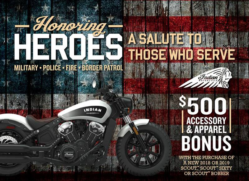 Indian - Honoring Heroes Midsize Offer