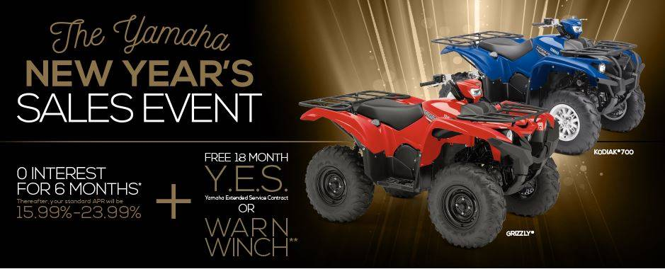 Yamaha Motor Corp., USA The Yamaha GET OUT AND RIDE SALES EVENT - Utility ATV - Current Offers & Factory Financing