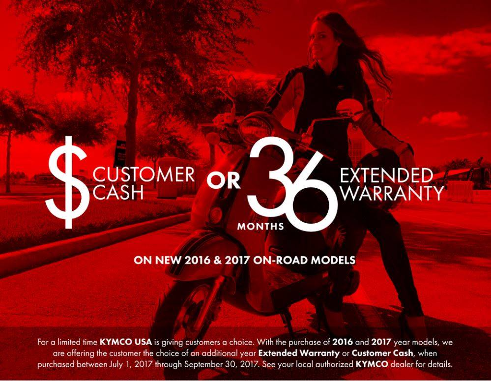 Kymco Customer Choice Promotion for On-Road Models