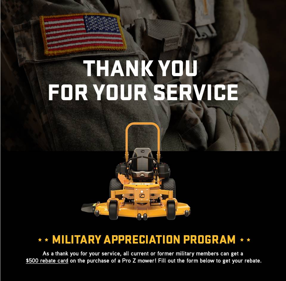 Cub Cadet - Military Appreciation Rebate