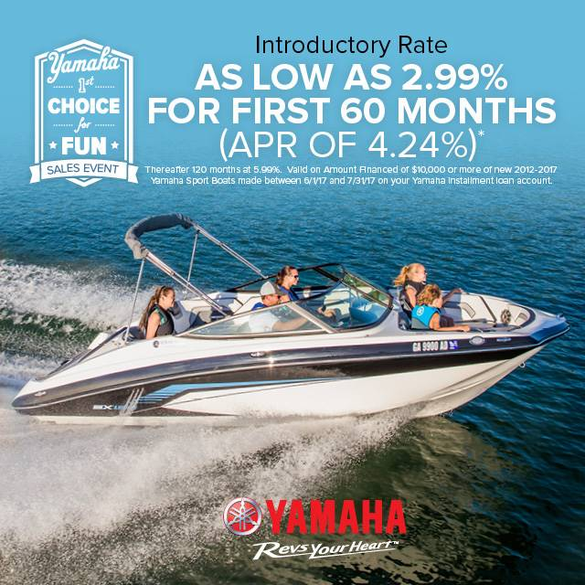 Yamaha Boats - 1st Choice for Fun Sales Event - 2.99% for 60 Months