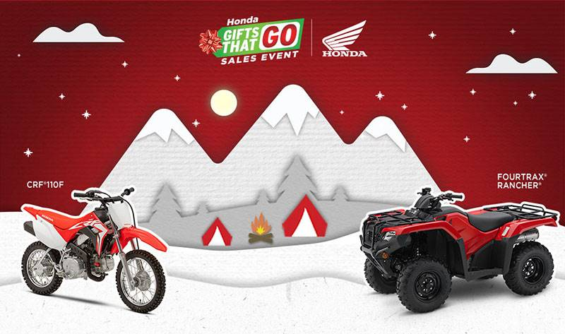 Honda - Gifts That Go Sales Event - All ATVs and SxS