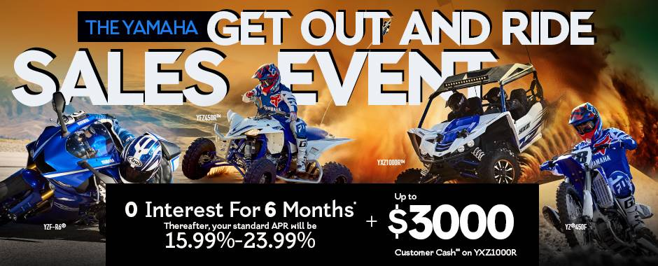 Yamaha Motor Corp., USA The Yamaha GET OUT AND RIDE SALES EVENT - Pure Sport SxS - Current Offers & Financing