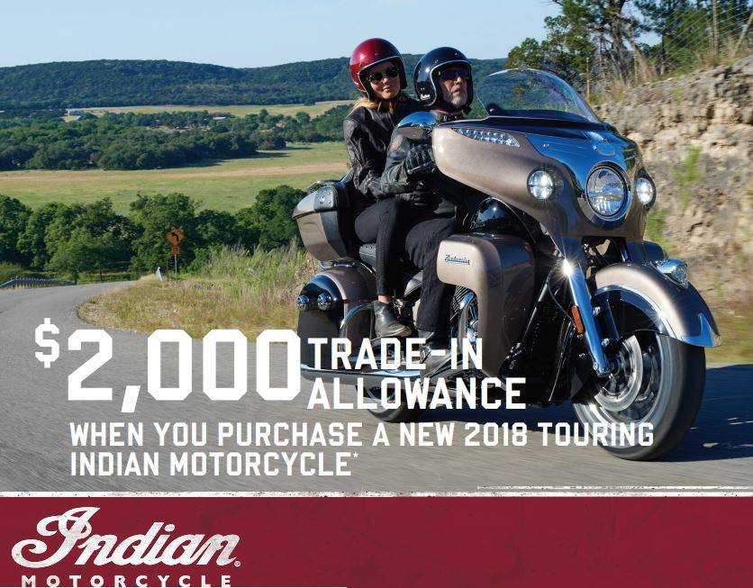 Indian - 2018 Roadmaster Financing or Trade-In