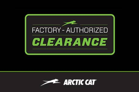 Arctic Cat UTVs - Factory Authorized Clearance - MY2016-2017
