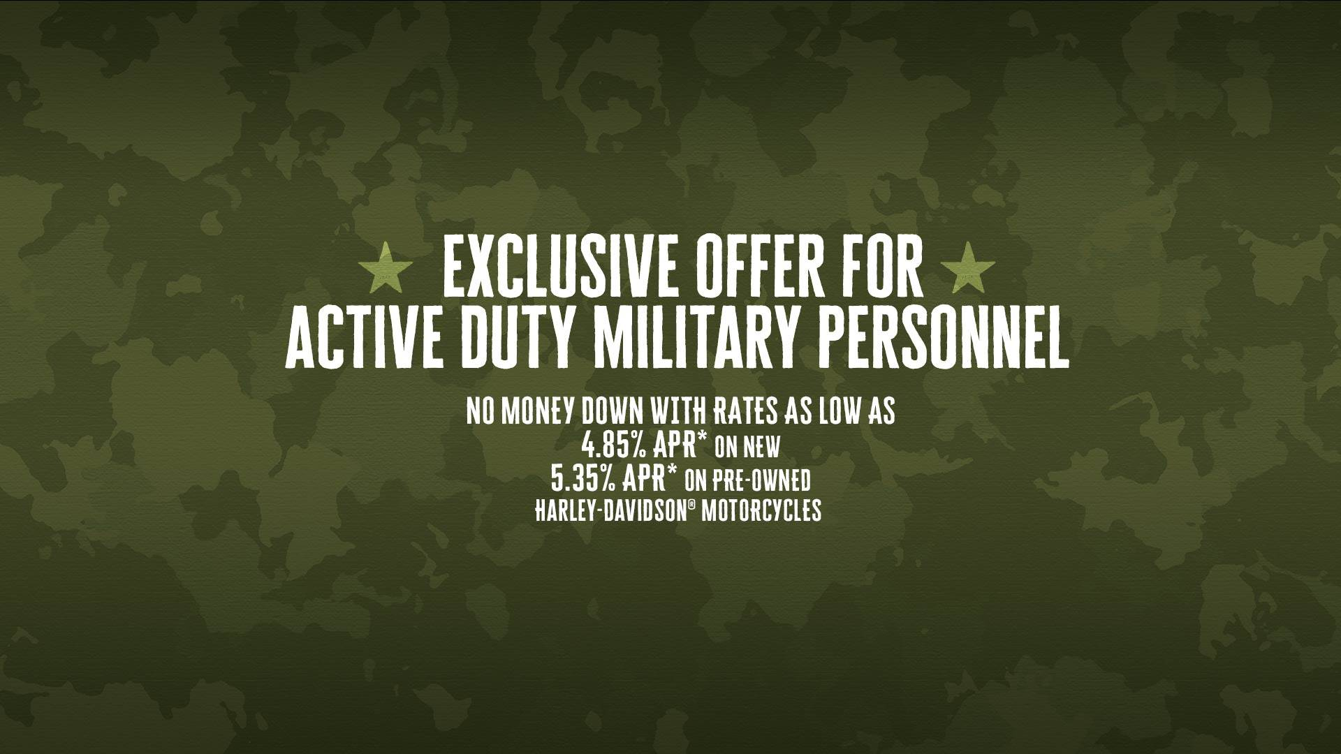 Harley-Davidson STATESIDE MILITARY FINANCING PROGRAM