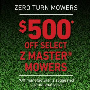 Toro $500* OFF SELECT Z MASTER MOWERS