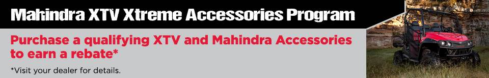 Mahindra XTV Xtreme Accessories Program