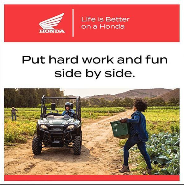 Honda - Life Is Better On A Honda - ATVs and SxS