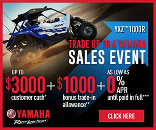 Yamaha - TRADE UP TO A YAMAHA SALES EVENT - Pure Sport Side by Side