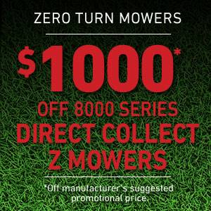 Toro $1000* OFF 8000 SERIES DIRECT COLLECT Z MOWERS