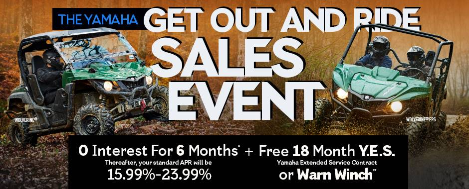 The Yamaha GET OUT AND RIDE SALES EVENT - Recreation & Utility SxS - Current Offers & Factory Financing