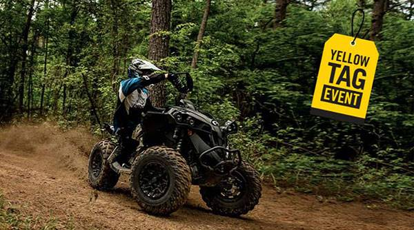 Can-Am Yellow Tag Event Rebate List Renegade