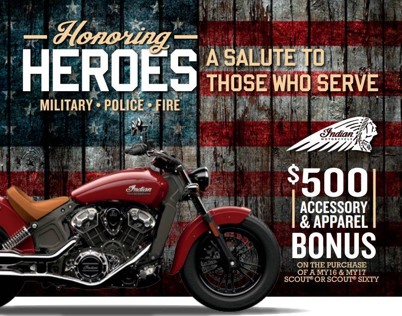 Indian Honoring Heroes $500 Bonus