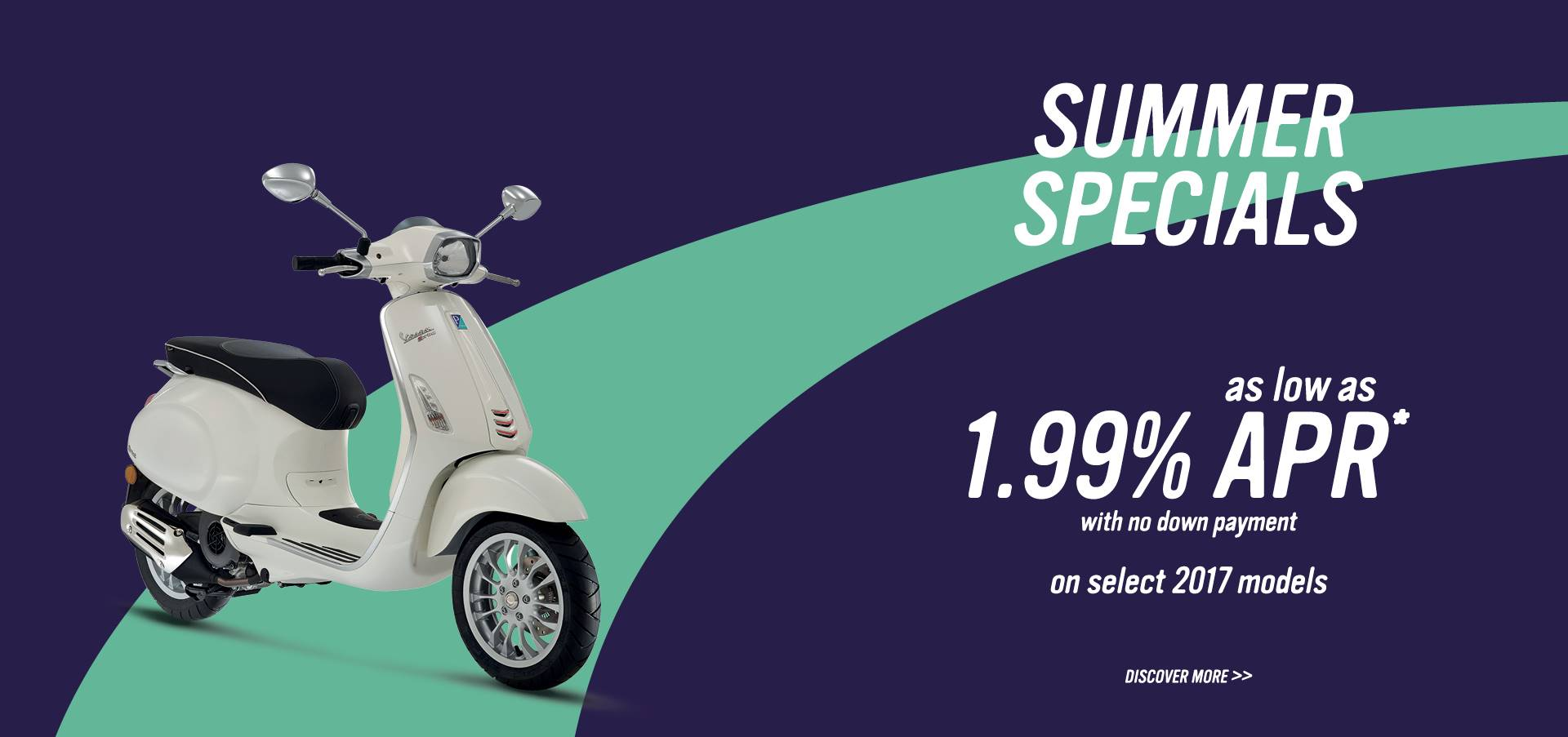 Vespa - Summer is here! Amazing offers on select 2017 models!