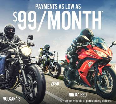 Kawasaki Z650 Offer - AS LOW AS $99/MONTH