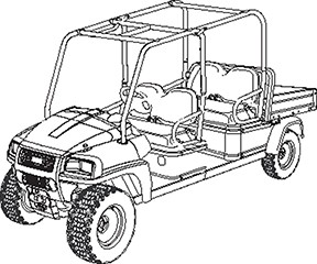 2015 Club Car Carryall 1700 SE Diesel in Bluffton, South Carolina