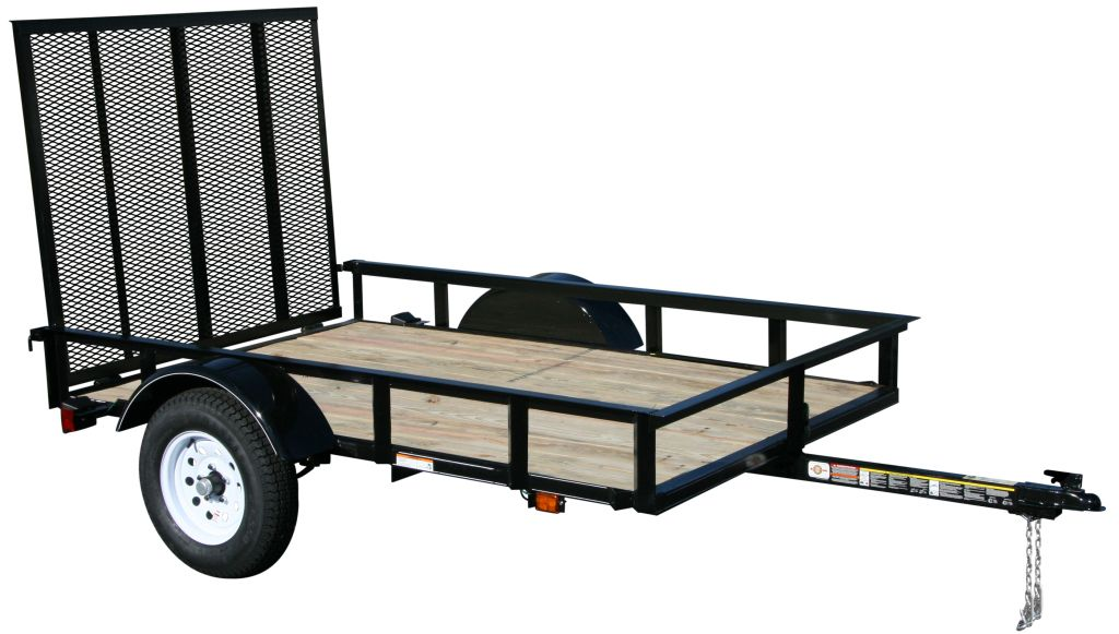 2015 carry on trailers 5x8spw 2 000 lbs gvwr wood floor for Wood floor utility trailer