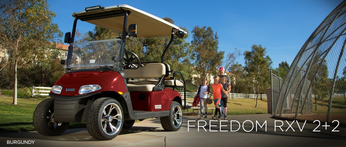 2017 E-Z-Go Personal Freedom RXV 2+2 Gas in Webster, Texas