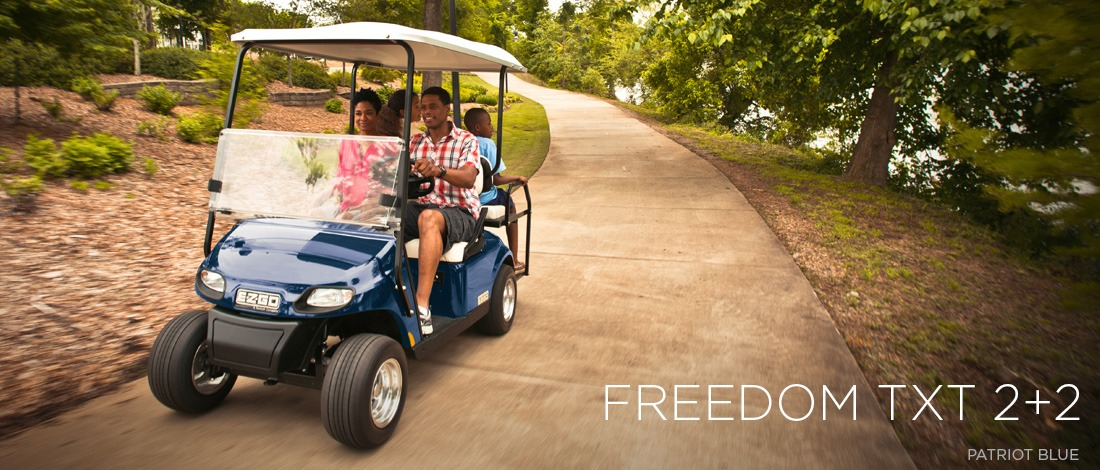 2017 E-Z-Go Personal Freedom TXT 2+2 Electric in Webster, Texas