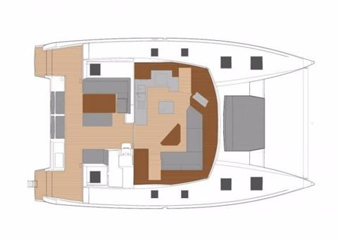 Fountaine Pajot Helia 44 Evolution Upper Deck Layout Plan