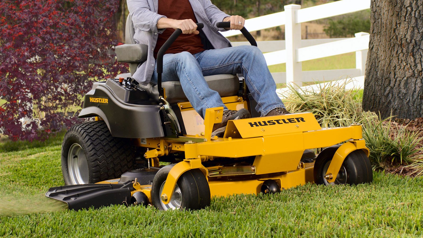Think the used hustler lawn mowers