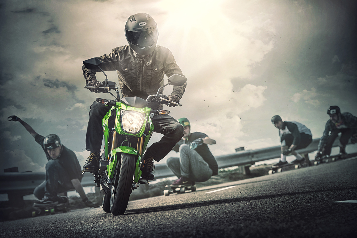 2017 Kawasaki Z125 Pro in Johnstown, Pennsylvania