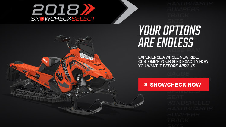 2018 Polaris 800 PRO-RMK 174 3 in. SnowCheck Select in Ironwood, Michigan