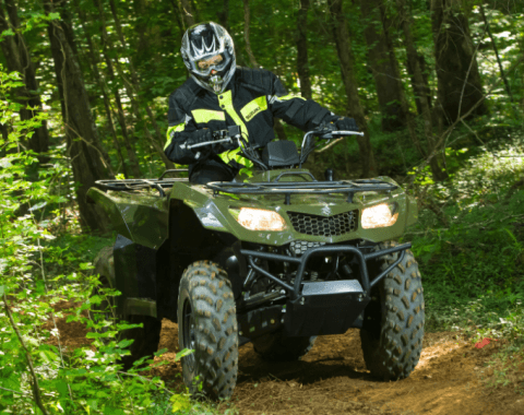 2017 Suzuki KingQuad 400ASi in Phillipston, Massachusetts