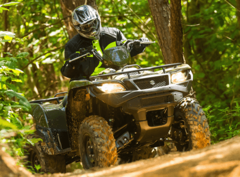 2017 Suzuki KingQuad 500AXi Power Steering in Phillipston, Massachusetts