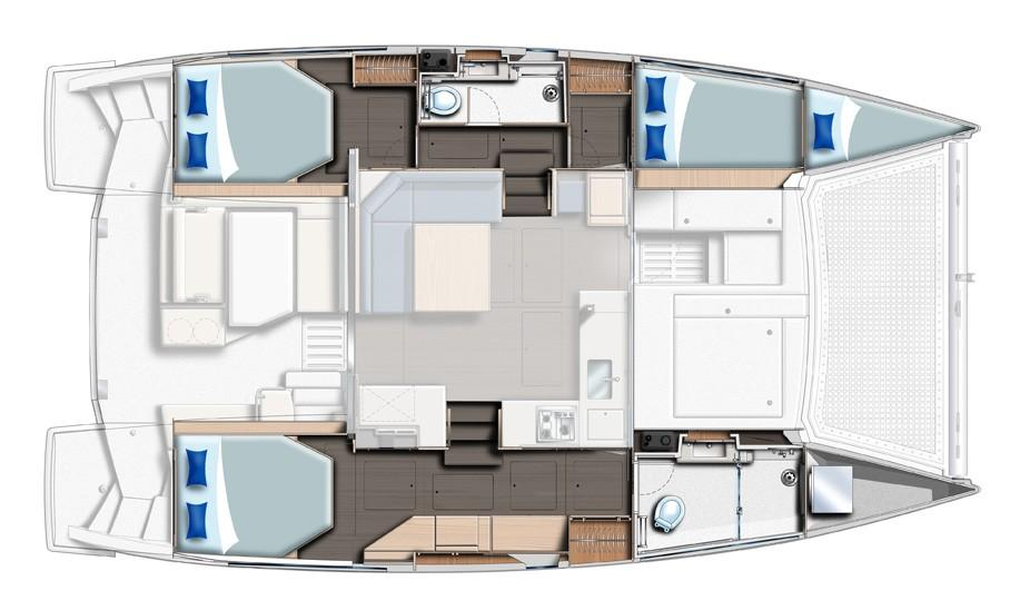 Sunsail 404 3 Cabin Layout Plan