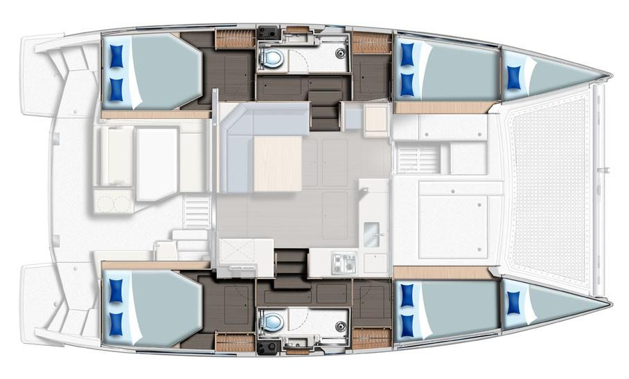 Sunsail 404 4 Cabin Layout Plan