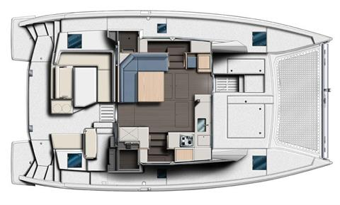 Sunsail 404 3 Cabin Layout Plan Upper Deck Layout Plan