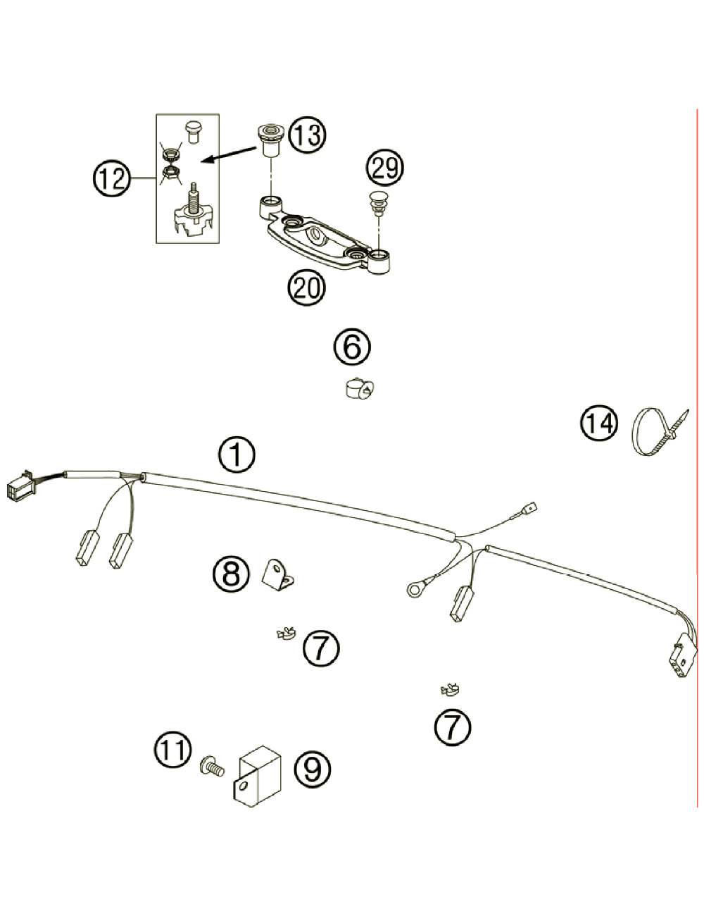 Fiche Parts Wiring Diagram 2006 Ktm 200 Exc