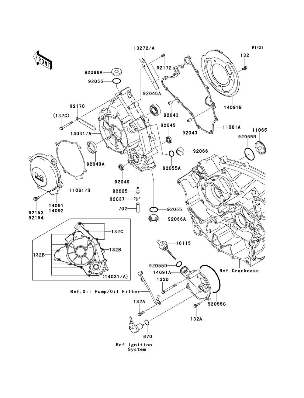 shop.metroeastmotorsports.com, 2011 Kawasaki Teryx 750 FI 4X4 LE  (KRF750-RBF) Engine Cover(s)