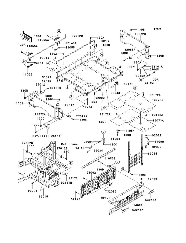 Fiche Parts 2013 Kawasaki Teryx Wiring Diagram 750 Fi 4x4 Sport Krf750 Sdf Carriers