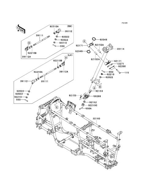 2008 Kawasaki Brute Force 750 Wiring Diagram