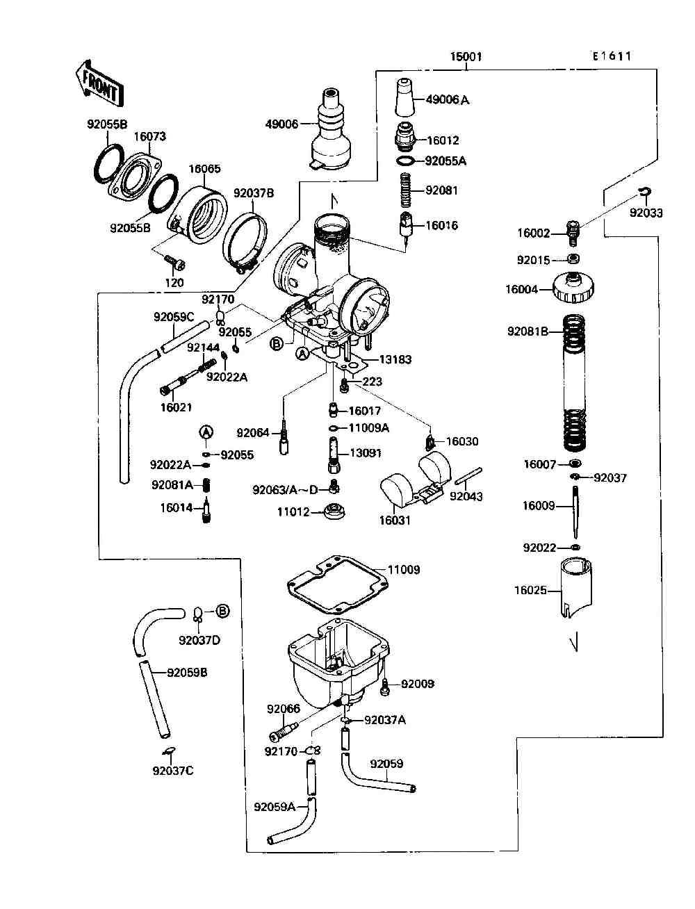 WRG-7489] Wiring Diagram Kawasaki Bayou 220 Parts on